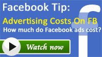 How much are the rates for Facebook advertising
